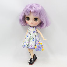 ICY Middie Blythe boneca curto cabelo roxo articulado corpo 20cm