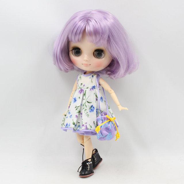 ICY Middie Blythe Doll Короткий Пурпурний Волос Шарнірний Тіло 20cm
