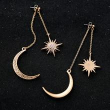 Star Moon Charming Aquamarine Earrings and Jewelry