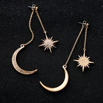 KISS ME Newest Shiny Crystal Star Moon Earrings Charming Earrings for Women 2017 Fashion Jewelry Brincos 4