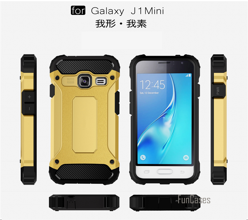 J1 mini Case For Samsung Galaxy J1 mini Cover Armor TPU PC Cover Case For Samsung SM-J105F Mobile Phone Back Cases 2 in 1 4 inch