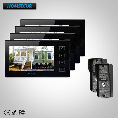 HOMSECUR 7 Wired Video Door Entry Security Intercom+Touch Button Monitor TC031 Camera + TM704-B Monitor