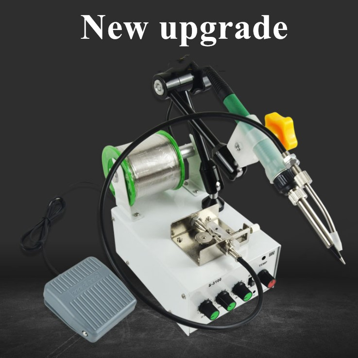 220V Soldering Machine Fully Automatic Temperature Adjusting Small spot welder Foot-mounted Welding Machine Constant Solder Gun220V Soldering Machine Fully Automatic Temperature Adjusting Small spot welder Foot-mounted Welding Machine Constant Solder Gun
