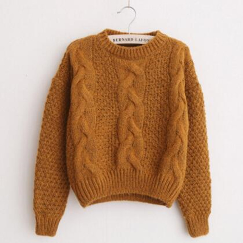 Women Sweaters Warm Pullover and Jumpers Crewneck Mohair Pullover Twist Pull Jumpers Autumn 2017 Knitted Sweaters Christmas