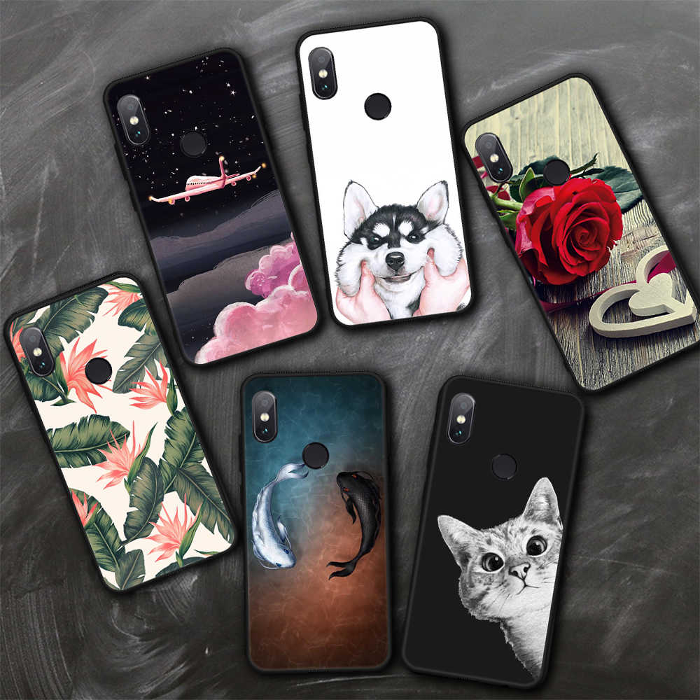 GerTong Ultra Thin Matte Case For Xiaomi Redmi 6 Pro 6A 5 Plus Note 5 Global 5A 4X Pro Mi8 SE 6X Mi A1 A2 Soft Phone Back Cases