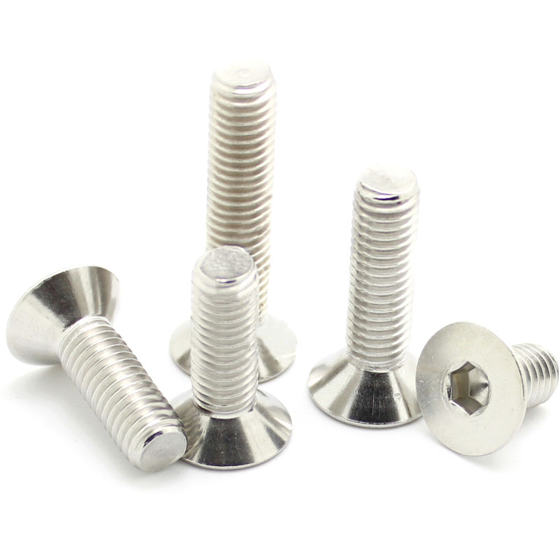 10 Pcs M2 M2.5 304 Edelstahl Senkkopf/flach Kopf Hexagonal Schraube * 4/5/6/ 8/10/12 Din7991 Einfach Zu Reparieren