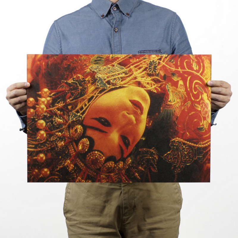 Free Shipping,Farewell My Concubine/Leslie  Classic Movie/kraft Paper/bar Poster/Retro Poster/decorative Painting 51x35.5cm