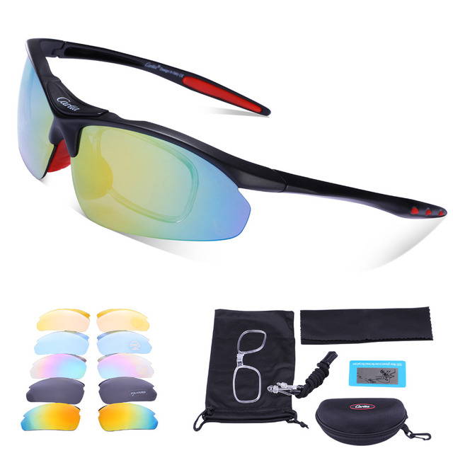529243fe343 Carfia Sports Polarized Sunglasses Men Women UV400 Protection Cycling  Glasses for Outdoor Driving Fishing Ski Golf Baseball