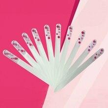Воды и термотрансферная печать логотипа стеклянная пилочка для ногтей Прочный Кристалл Стеклянная Пилочка Для Ногтей уход за ногтями Файлы Инструменты