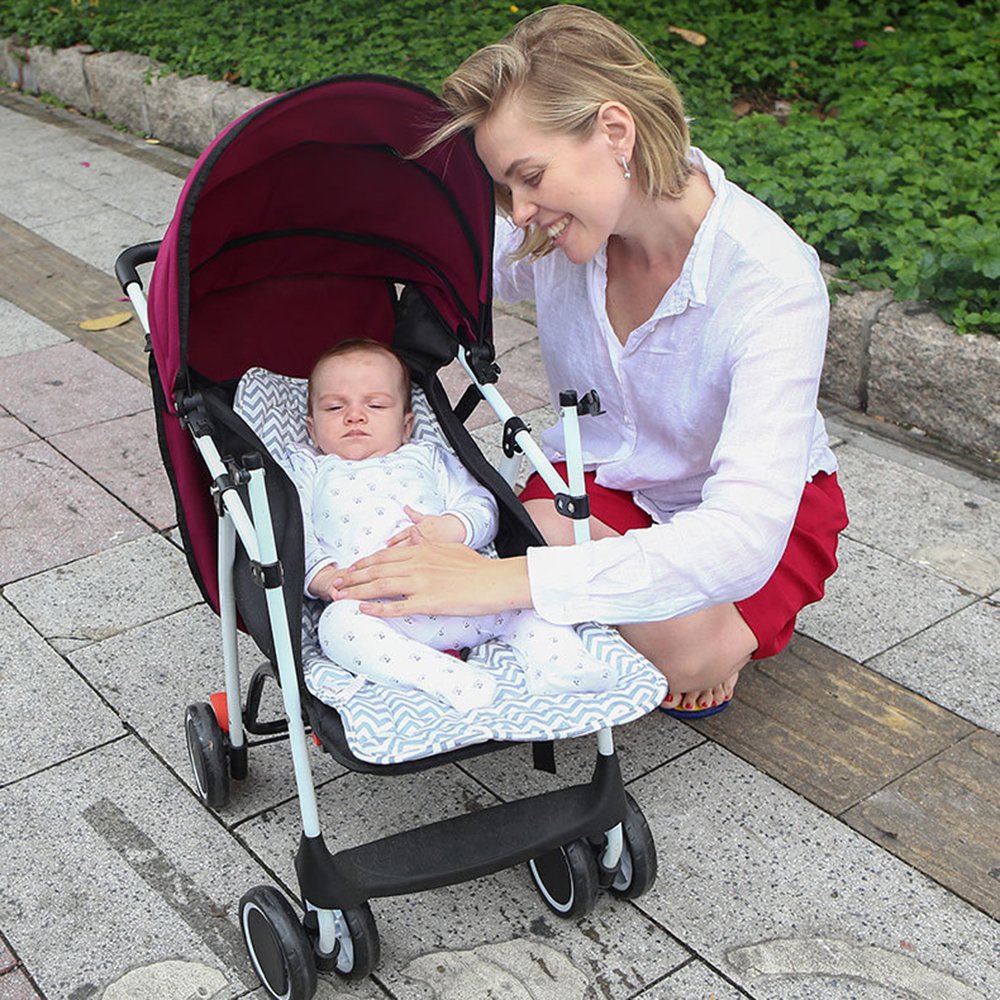 Baby Stroller Pad Thicken Baby Cotton Stroller Seat Soft Children Trolley Baby Urine Pads Car Mat Kids Chair Cushion