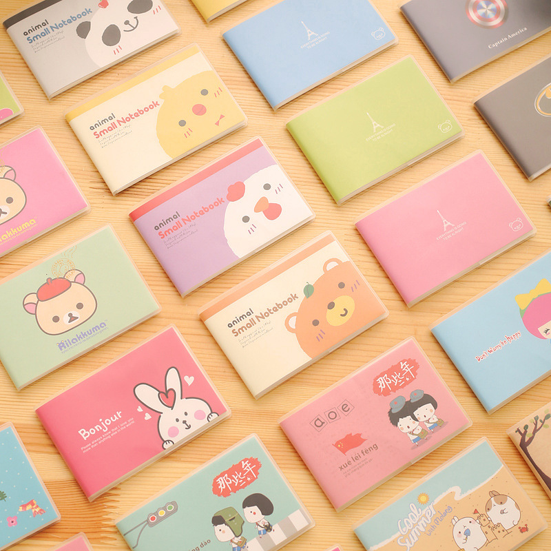 Cartoon Animal Multi Color Mini Notebook Cute Korean Stationery Kawaii School Supplies