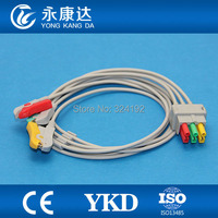 3lead ECG Trunk cable with IEC ,Clip ECG monitor Cable for Datex Ohmeda