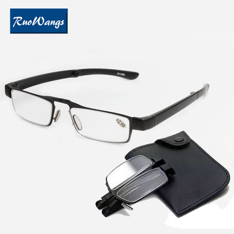 Mini Folding Magnetic Reading Glasses Slim Foldable Diopter Glasses Presbyopic Eyeglasses 1 0 1 5 2