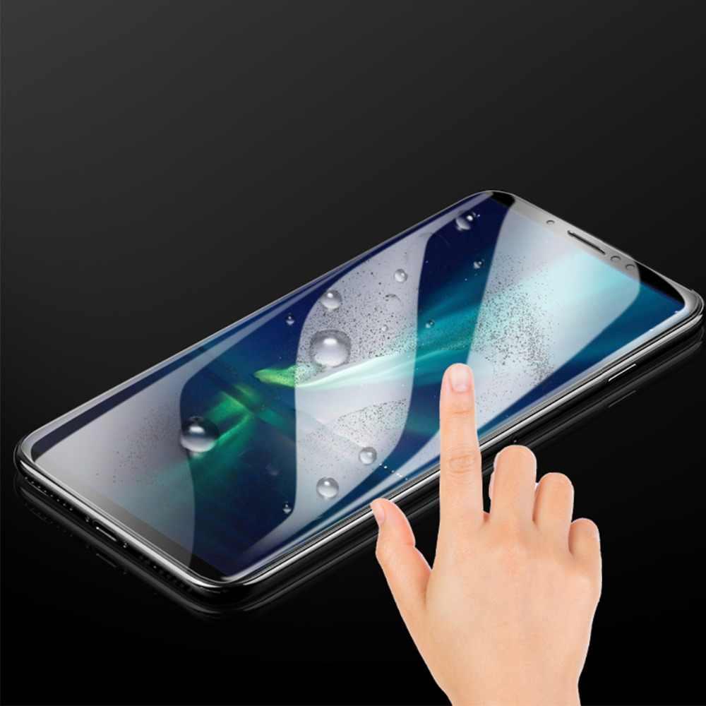 هيدروجيل واقي للشاشة لسامسونج غالاكسي A7 A8 A6 زائد J4 J6 J7 J8 2018 نانو TPU لينة واقية طبقة واقية لا الزجاج