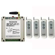 DC12V 24V 36V 48V 2CH 500m longue portée RF télécommande sans fil relais commutateur système de sécurité tubulaire moteur volets de porte de garage