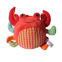 Red Crab Kids Soft Ball With Sound Paper Baby Activity Training Toy 0 12 Months Mobile