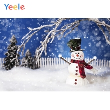 Yeele Christmas Photocall Bokeh Light Snowman Party Photography Backdrops Personalized Photographic Backgrounds For Photo Studio