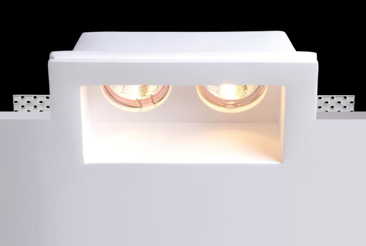 Led Recessed Gypsum Light Plaster Spotlight Pure White