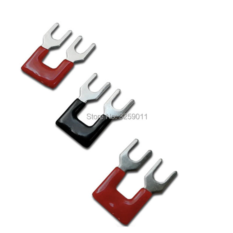 500PCS TB1502 TBD-15A Suyep 2 Positions 15A Wire Connector Pre Insulated Fork Type Barrier Spades Terminal Strip Jumper Block
