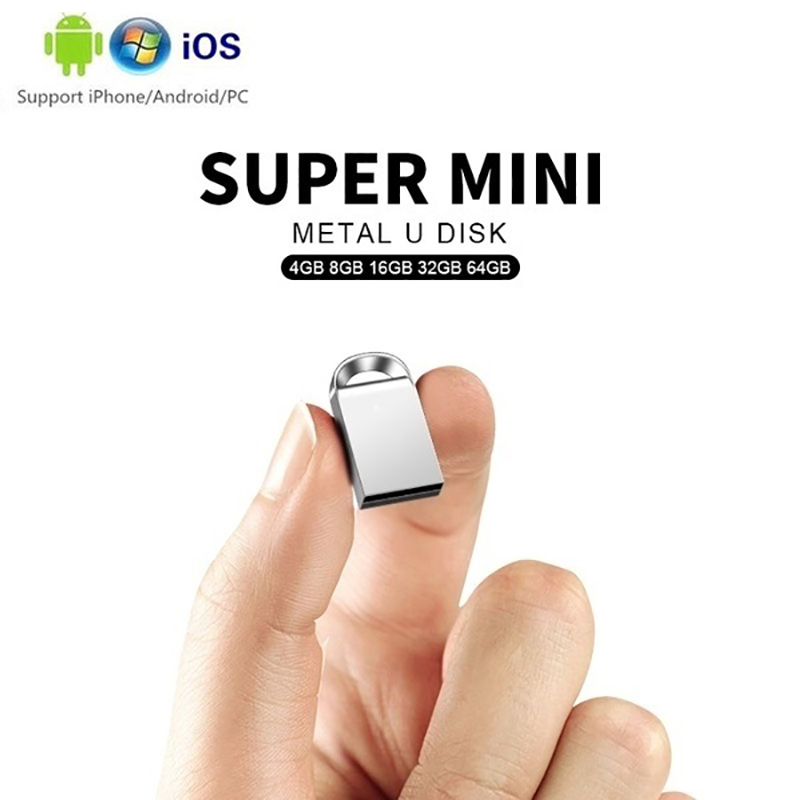 Mini USB Flash Drive 128gb Metal Pen Drive 64gb 32gb 8gb Pendrive 16gb 4gb Usb 3.0 USB Stick Memory Disk Free USB Converter