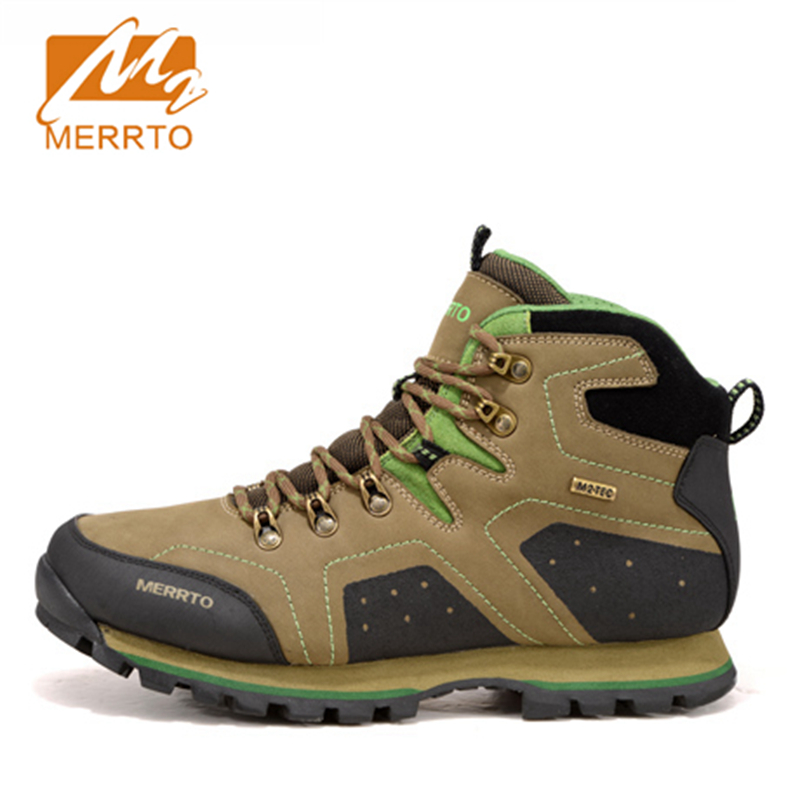 2017 Merrto Mens Hiking Shoes Climbing Boots M2-TEC Waterproof Outdoor Shoes Full-grain leather For Men Free Shipping MT18517 2017 mens hiking shoes breathable rock climbing camping outdoor sports shoes for men army green black free shipping c101