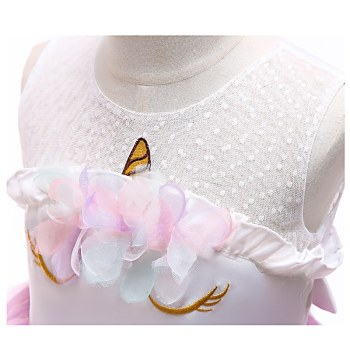 Unicorn Sleeveless Princess Dress