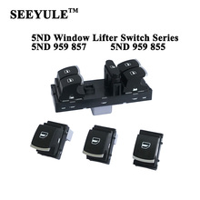 1set SEEYULE 5ND 959 857 5ND 959 855 Car Window Lifter Switch Control for VW Golf MK5 6/Passat B6/Passat CC/Tiguan/EOS/Jetta MK5 headlight window mirror control switch button for volkswagen vw jetta mk5 golf 5 6 tiguan passat b6 cc golf plus rabbit 6pcs set