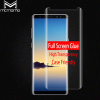 MCMEME 3D Curved Tempered Glass For Samsung Galaxy Note 8 Full Glue Case Friendly For Samsung