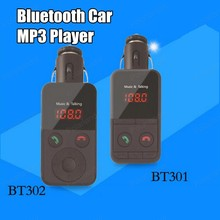 Bluetooth MP3 PlayerHandsfree Car Kit AUX Hands Free FM Transmitter with Dual USB MP3 SD LCD Car Charger Cigarette Lighter