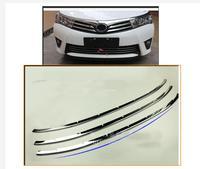 Exterior Front Bumper Lower Radiator Grille Trim Steel 3PCS For Toyota Corolla E170 2014 2016 International version