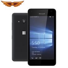 Oryginalny Nokia Microsoft Lumia 550 Unlocked 4.7 calowy Quad Core 1GB RAM 8GB ROM 5MP aparat Windows Mobile OS 1280x720 telefon komórkowy
