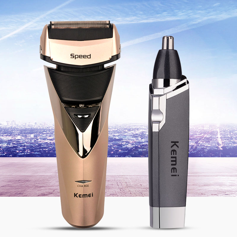 220-240V Kemei Men Electric Trimmer Razor Rechargeable Electric Shaver Nose Trimmer Men Shaving Machine Rasoir Men's Shaver philips brl130 satinshave advanced wet and dry electric shaver