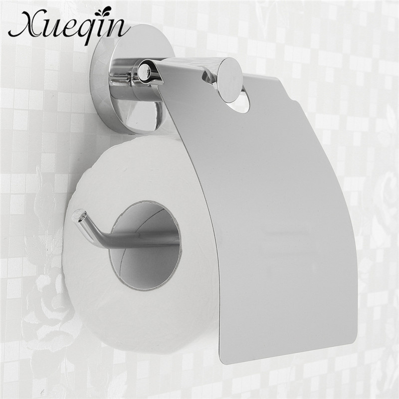 Wall Mounted Bathroom Toilet Paper Holder Stainless Steel Bathroom Tissue Roll Bar Paper Tissue Box Rack Chrome Polished stainless steel toilet tissue roll box wall mounted bathroom paper holder sturdy practical and user friendly