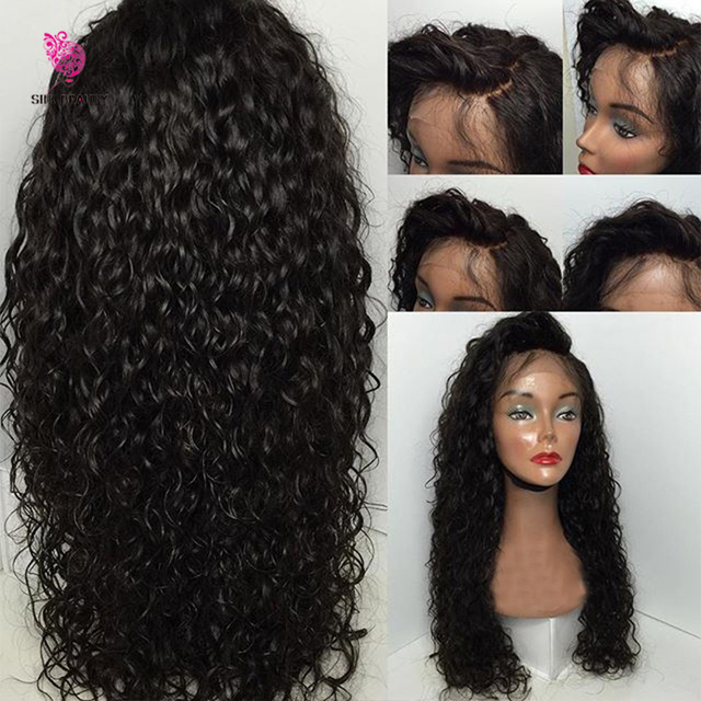 Cambodian Lace Wig Human Hair Full Lace Wigs Loose Curly Glueless
