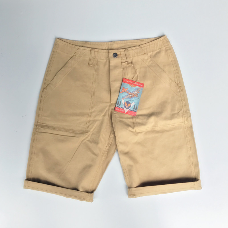 BOB DONG Reproduction Vietnam War Army Cargo Shorts Military Mens Straight Khaki Short Pants Summer Trousers Plus Size