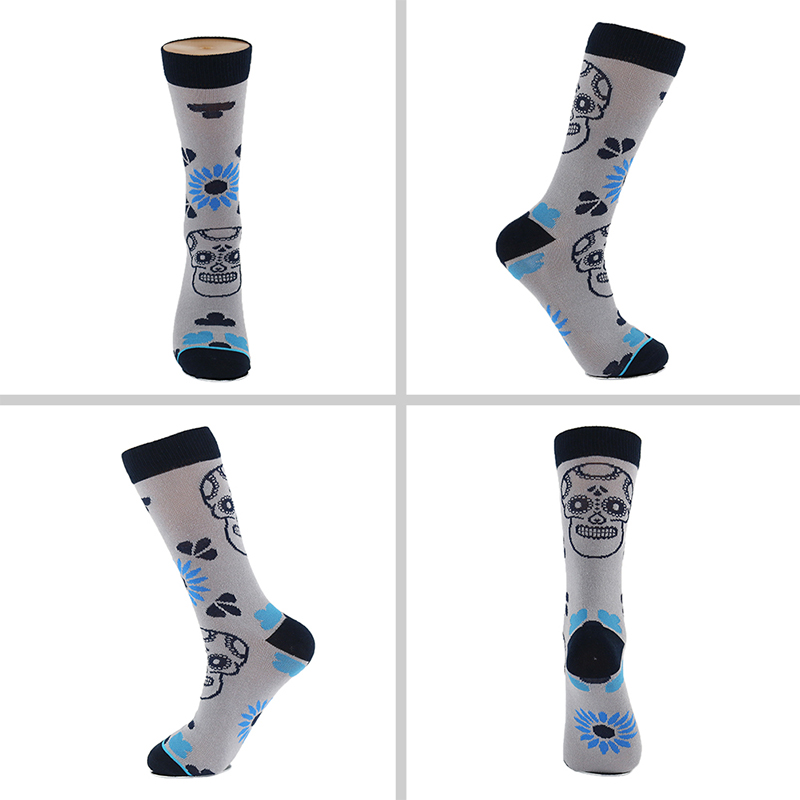 Image 4 - 5 Pair/Lot Cotton Men Socks Quality Spring Fall Brand Business Compression Coolmax Pattern Dress Happy Male Crew Socks Plus Size-in Men's Socks from Underwear & Sleepwears