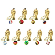 World Cup 2019 Football Fans articles National Flag Trophy Keychain Pendant Sports souvenirs Soccer ball game gift fa premier league barclay s english premiership champion cup model 30 cm height fans souvenirs trophy collectibles