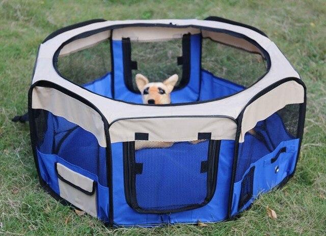 € 105.32  Portable Pliant Chien Clôture Animal Parc Pour Chiens Voyage  Chien Clôtures Cercado Para Cachorro Portable Maison Chenil Cage Livraison  ...