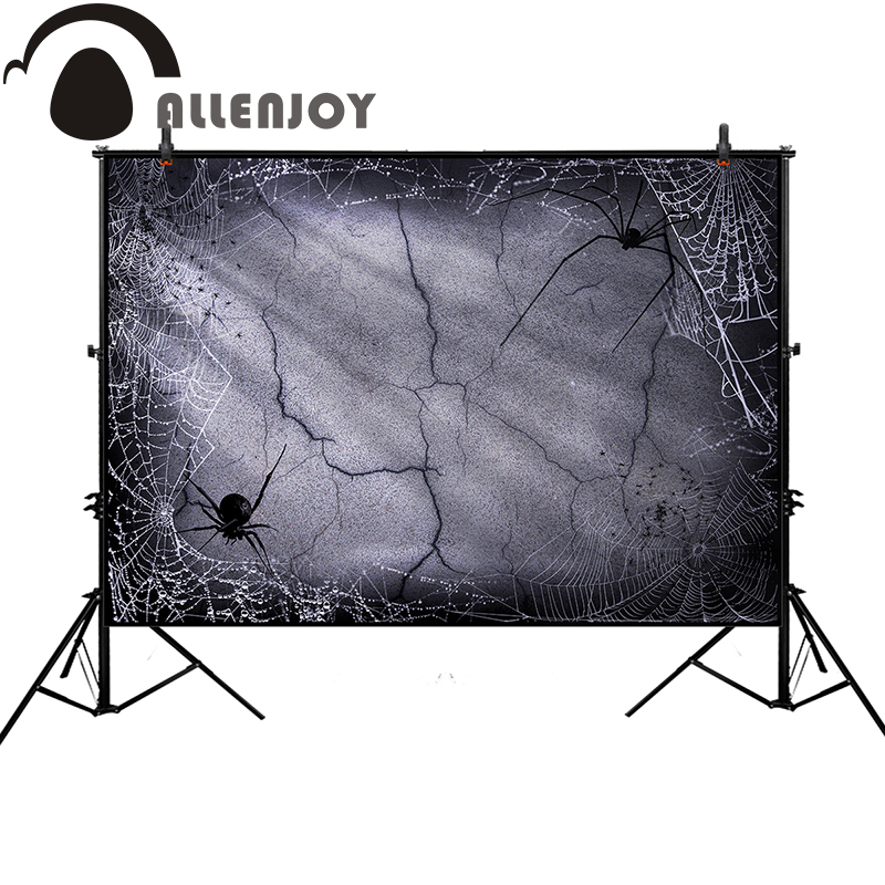 Allenjoy photographic background Broken brick wall spider Halloween  backdrop photo studio original design photo printer allenjoy photographic backdrop spider owl moon hand halloween invitation card party baby photocall backgrounds for photo studio