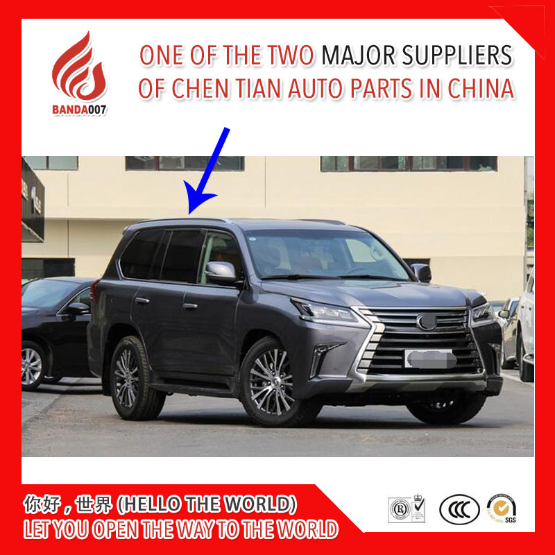 High quality silver color screw install aluminium alloy roof rack rail bar for LX570 2016 2017