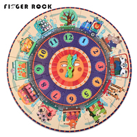 Finger Rock 25pcs Baby Clock Paper Puzzle Creativity Digital Clock Cognition Jigsaw Puzzle For Children Early Educational Toys