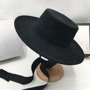 Image 5 - ประมาณแบนชายคาหมวกขนสัตว์แสดงแสงสีขาวหญิงhomburg JOKERหมวกLemon ElegantหมวกFedorasปานามา