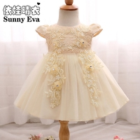 Yingwaaiyi Flower Party Girl Dress Butterfly Short Wedding Dress For Girl Kids Bridesmaid Sequin Flower Girl