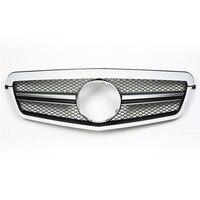 SL Стиль передняя решетка черный хром сетки Fit для Mercedes e класса W212 E350 E550 2009 2010 2011 2012 2013 Замена Авто Запчасти