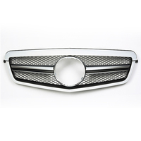 SL Style Front Grille Black Chrome Mesh Fit For Mercedes E Class W212 E350 E550 2009 2010 2011 2012 2013 Replacement Auto Parts
