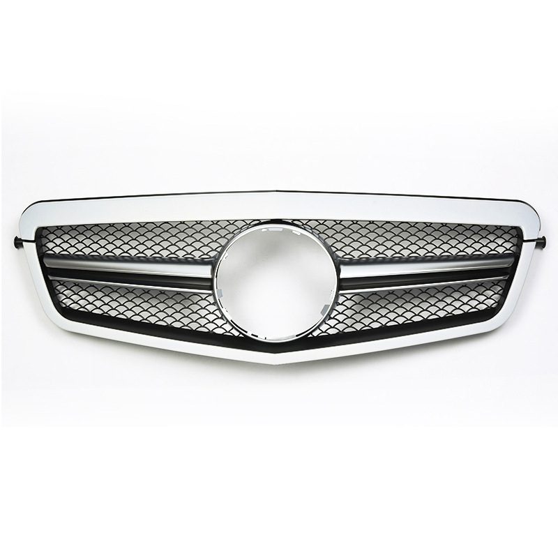 SL Style calandre noire maille chromée adaptée pour Mercedes classe E W212 E350 E550 2009 2010 2011 2012 2013 pièces d'auto de remplacement