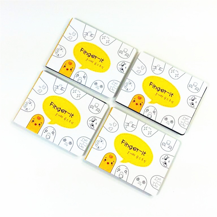 20packs/lot New kawai Finger style Memo Note Memo Pads Message Post Writing Scratch Pad bookmark Gift Wholesale