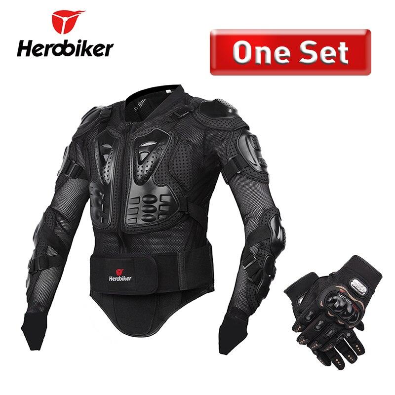 Herobiker мотоциклетная куртка Для мужчин защитный Шестерни мотоциклетные Броня всего тела Мотокросс Шестерни гоночный мотоцикл защиты S-5XL