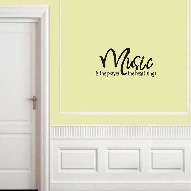 Music is the prayer the heart sings Quote Wall Art Vinyl Lettering ...