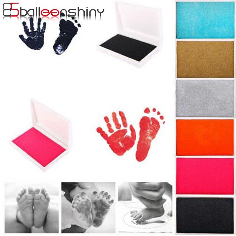 BalleenShiny Baby Handprint Footprint Imprint Kit Inkpad нетоксичные Новорожденные сувениры литье чернил Pad Младенческая глина игрушки милые подарки